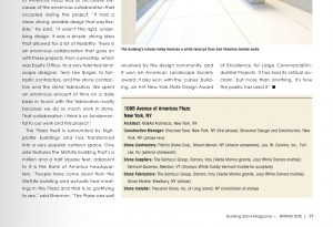 Petrillo Stone Corp Featured in Building Stone Magazine