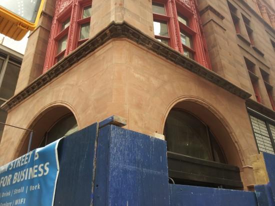 Corbin Building 3 Red sandstone from Utah