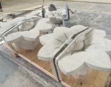 Indiana Limestone Rosettes