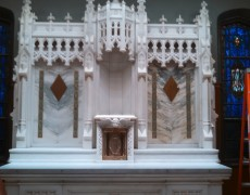 Altar at Fordham University's Loyola Hall