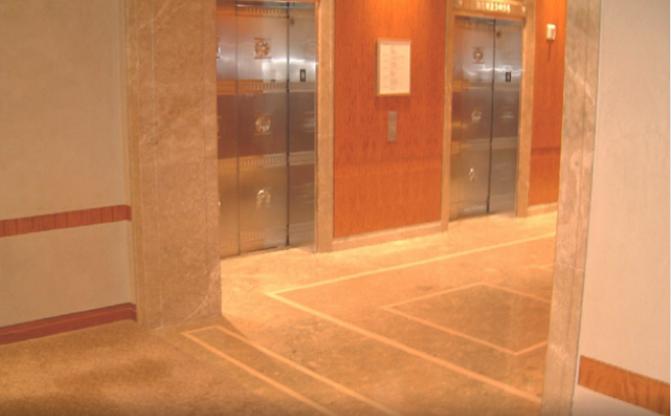 lobby elevator archway at tiffany's in new york