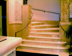 Renovating a Set of Stone Steps at the Benjamin Hotel